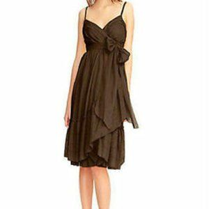 DVF Brown Cotton Spaghetti Strap Wrap Dress Kasi